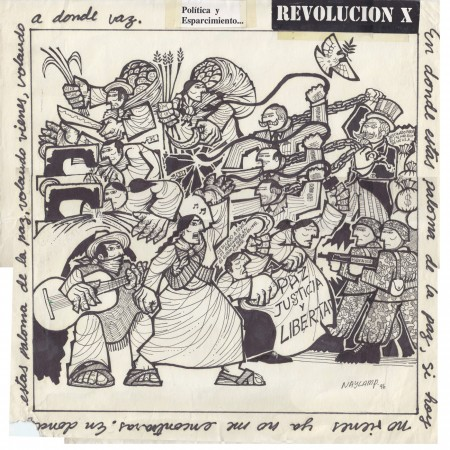 Politics and Reaction in Mexico – Cover for the Revolución X 7″