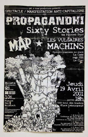Propaghandi, Sixty Stories, Les Vulgaires Machins, Map