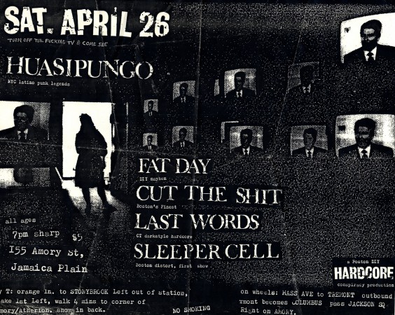 Huasipungo, Fat Day, Cut the Shit, Last Words, Sleeper Cell