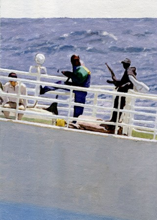"""Somali pirates and their hostages…"""